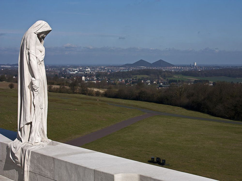 Canada Bereft (Mother Canada) overlooking the Douai Plain.