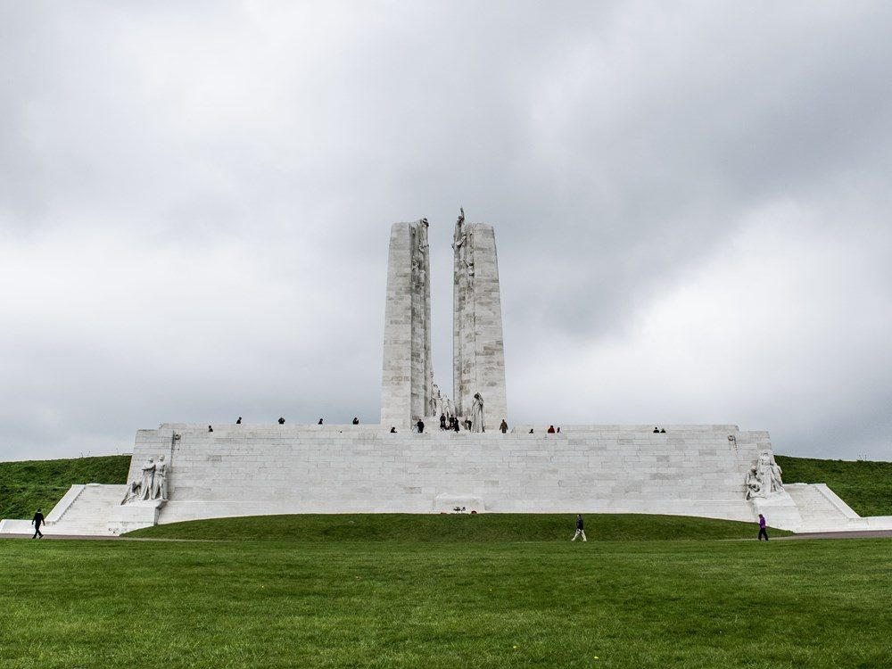 The Vimy Monument (the northeast side).