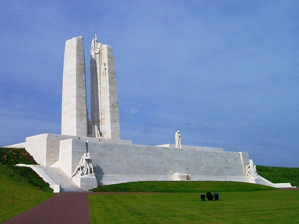 Looking west towards the  Vimy Memorial.