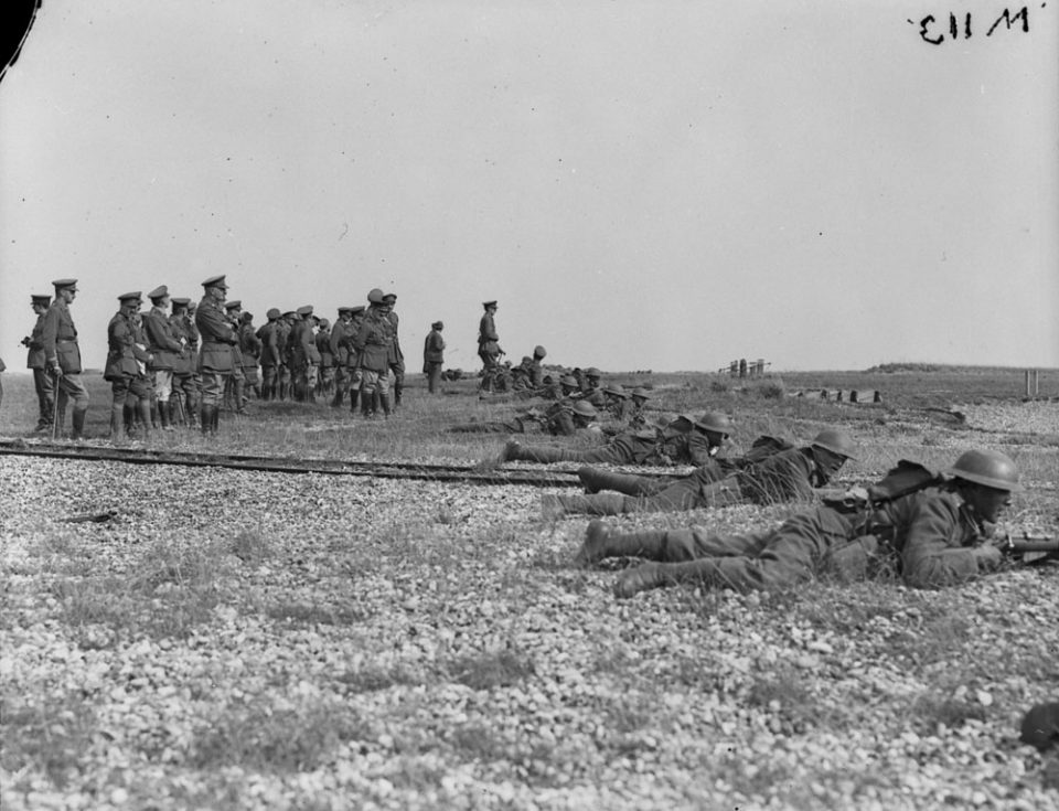 Musketry practice in Britain, Sept. 1917 (LAC M#3404537).